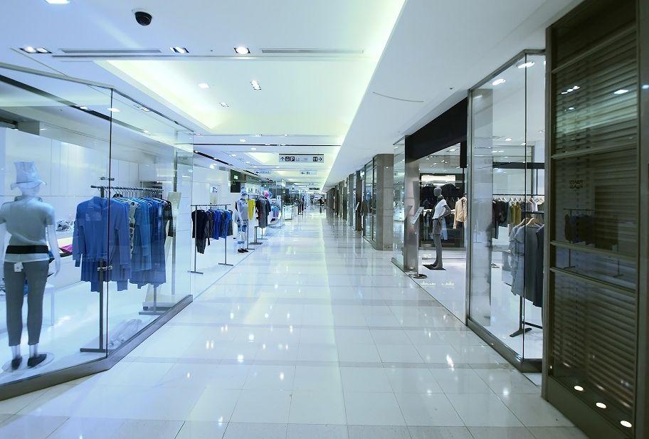 Showcase in department store